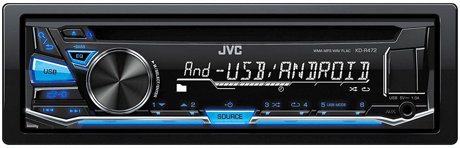 JVC KD-R472 Single Din Car Head Unit