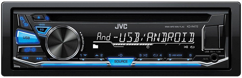 JVC KD-R472 Single Din Car Head Unit
