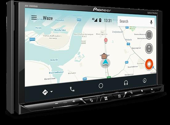 pioneer avh z5100dab apple carplay android auto bluetooth. Black Bedroom Furniture Sets. Home Design Ideas